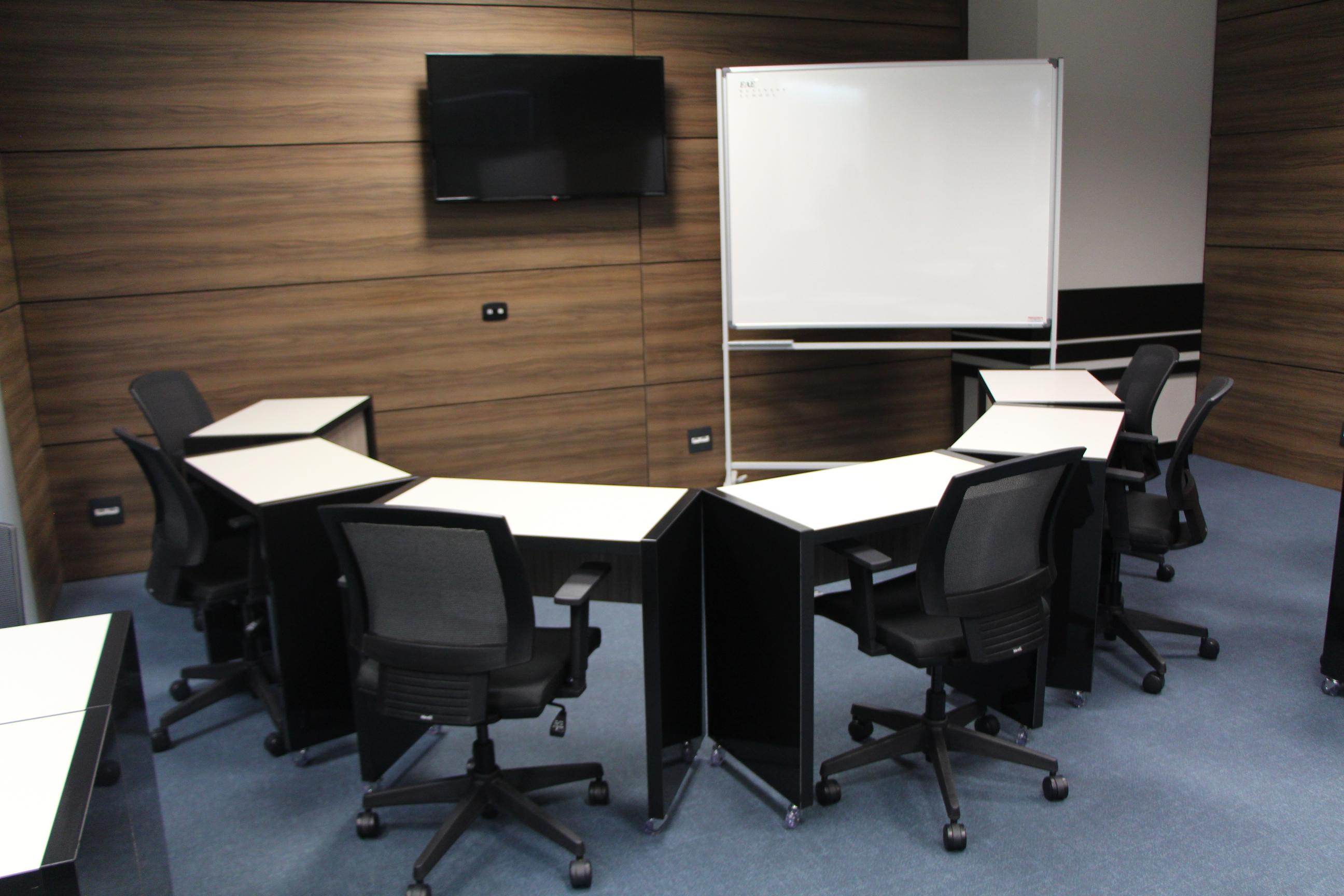Sala para metodologias ativas