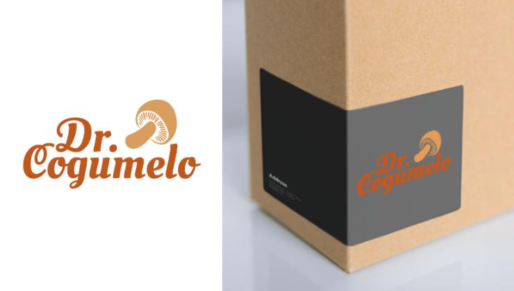 Criação de naming e identidade visual para a Dr. Cogumelo, definindo a tipografia e o elemento visual para destacar a estética orgânica e moderna da marca.