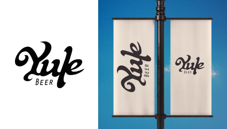 Proposta de naming e identidade visual para a empresa Yule Beer, realizando também um lettering para representar a cervejaria curitibana.