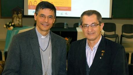 FAE recebe o Bispo Referencial da Comunicação da Arquidiocese de Curitiba, Dom José Mário Angonese, para abertura do evento.