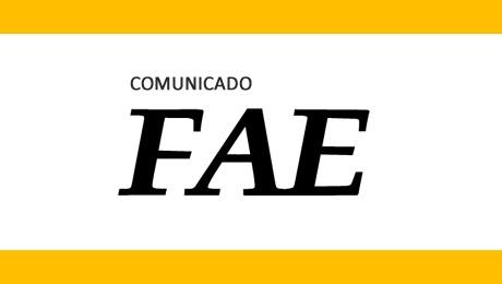 Alguns serviços da FAE estarão indisponíveis neste final de semana.