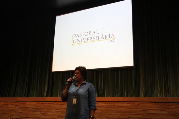 Rita Kleinke, coordenadora da Pastoral Universitária da FAE.
