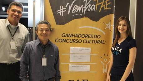 Evento #VemPraFAE contemplou três calouros em concurso cultural