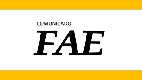 A FAE informa aos acadêmicos que se inscreveram no FAE Incentiva a ocorrência de problemas técnicos no envio de alguns formulários de inscrição.