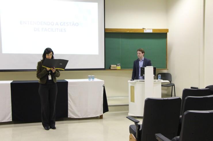 Palestra com Bruno Gonçalves da Silva sobre gestão de facilities.