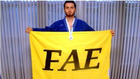 Aluno da FAE representa o Paraná e a FAE nos Jogos Universitários Brasileiros, em Goiânia.