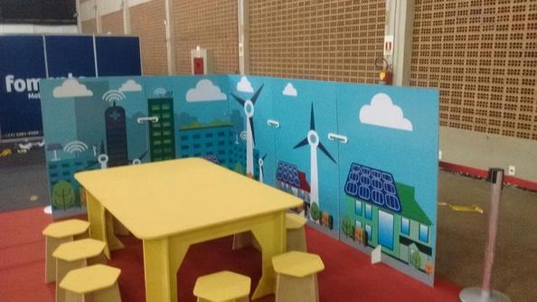 """Peças foram utilizadas em oficinas para crianças com o tema """"Cidades inteligentes"""""""