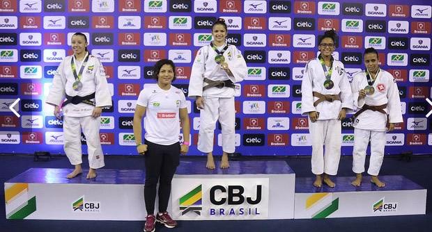 Natasha Ferreira competiu no Campeonato Brasileiro sub 21 de Judô