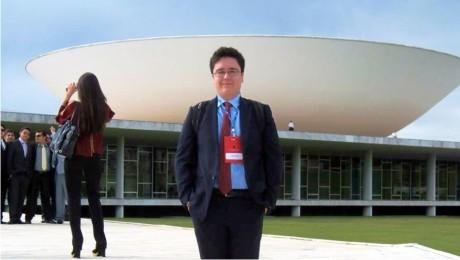 Estudante da FAE vivencia rotina da Câmara dos Deputados, em Brasília.