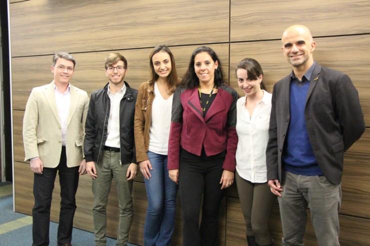 Equipe responsável por apresentar o projeto da empresa Herbarium
