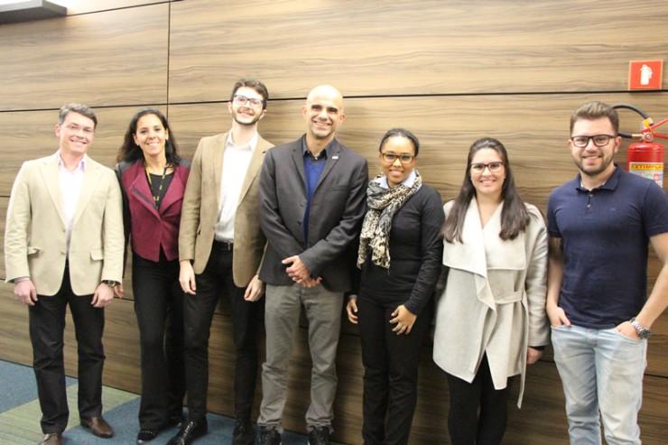 Equipe responsável por apresentar o projeto da empresa Spedini