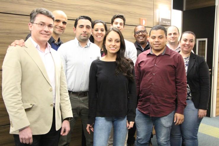 Equipe responsável por apresentar o projeto da empresa TRC Taborda