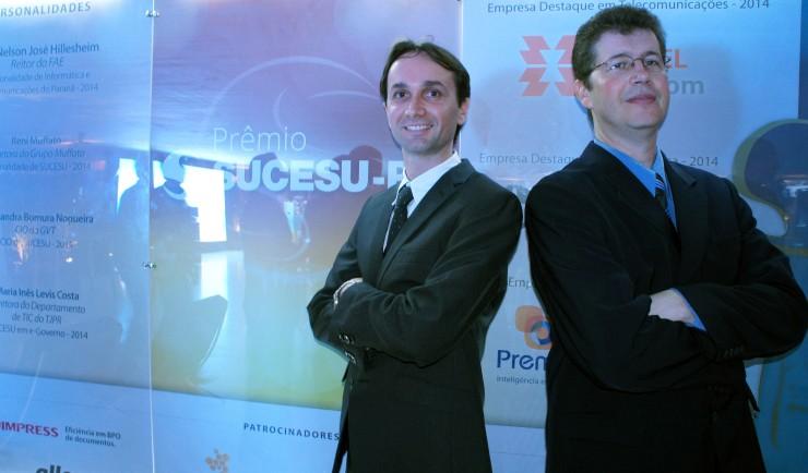 Robson Padilha e Clair Cardoso - responsáveis pelo projeto do FAE Connect.