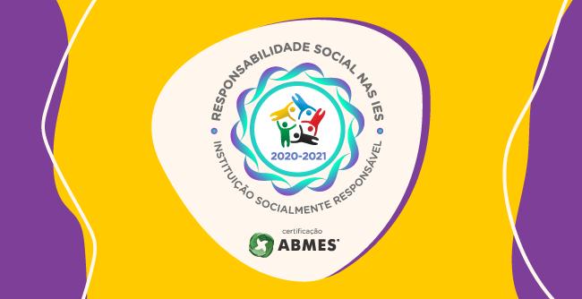 Reconhecimento ocorre com conquista do Selo de Responsabilidade Social da ABMES