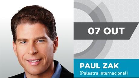 O norte-americano Paul Zak, um dos fundadores da Neuroeconomia, estará na Feira de Gestão no dia 7 de outubro.