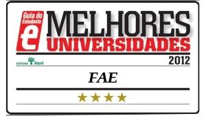 Oito cursos da FAE foram classificados pelo Guia