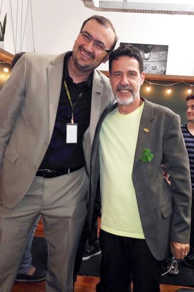O pró-reitor acadêmico da FAE, Everton Drohomeretski, à esquerda do diretor de campus da FAE Centro Universitário, Marco Antônio Regnier Pedroso.