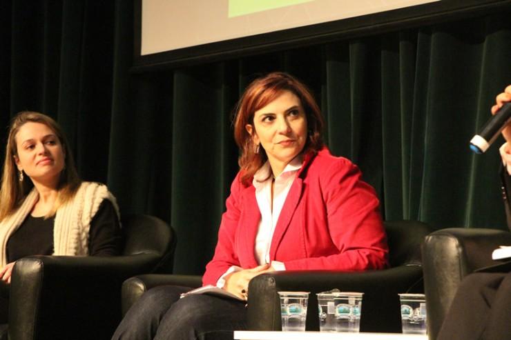 As professoras Juliana Esmanhotto Ribas Sigwalt e Mônica Andréa Jonsson.