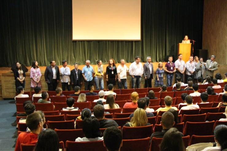 Aula inaugural aos calouros FAE 2016.