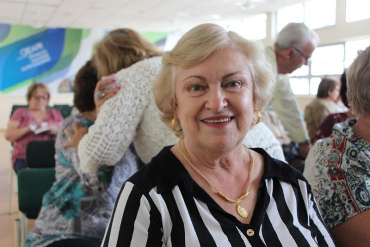 Rosi Petri, assídua participante do projeto FAE Sênior.