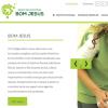 Site apresenta informações sobre as empresas que constituem a organização educacional, como a FAE e o Colégio Bom Jesus