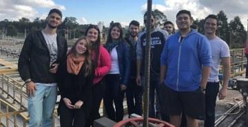 Estação de tratamento de efluentes e multinacional receberam os alunos de Engenharia da FAE