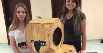 Calouros de Design criam casas para pets em oficina de materiais