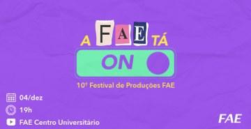 Mostra de curtas-metragens dos discentes do curso de Publicidade e Propaganda da FAE