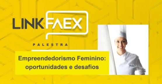 Webinar promovido pelo Link FAEx sobre empreendedorismo feminino