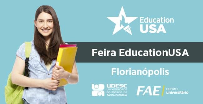 Feira internacional de programas de ensino nos EUA.