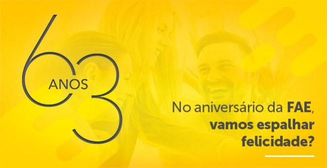 Evento gratuito sobre felicidade em celebração aos 63 anos da FAE Centro Universitário
