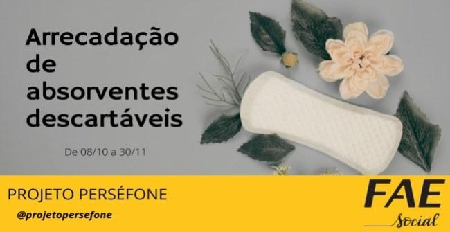 Campanha de arrecadação de absorventes descartáveis