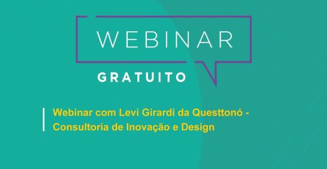 Webinar gratuito com o objetivo de apresentar a proposta da Questtonó estúdio de design e inovação e seus principais clientes e projetos.